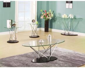 Ronli 80750CSE 4 PC Living Room Table Set with Coffee Table + Sofa Table + 2 End Tables in Black Color