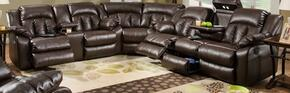 Sebring 50325-6863507 3 Piece Set including Double Motion Sofa, loveseat and Wedge Hidden Storage Compartment and Bonded Leather in Coffeebean