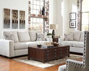 Rosanna Collection 508044ST 5 PC Living Room Sets with Sofa + Chair + Loveseat + Coffee Table + End Table in Cream and Vintage Cocoa Color