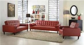 G849-SLC 3-Piece Living Room Set with Sofa, Loveseat and Chair in Red
