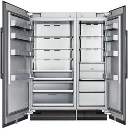 "54"" Panel Ready Side-by-Side Column Refrigerator Set with DRZ24980RAP 24"" Right Hinge Freezer, DRR36980LAP 36"" Left Hinge Refrigerator, and Installation Kit"
