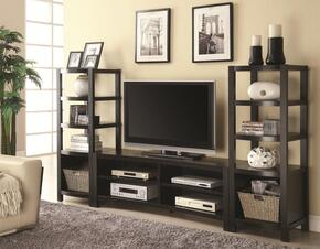 700697SET 3-Piece Entertainment Center with TV Stand and 2 Media Towers