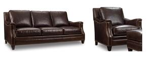 SS351 2-Piece Living Room Set with Huntington Collis Stationary Sofa and Chair in Brown