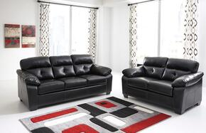 Bastrop DuraBlend 44601FSSL 2-Piece Living Room Set with Full Sofa Sleeper and Loveseat in Midnight
