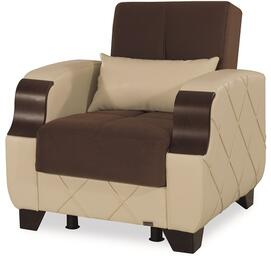 Casamode MOLINAARMCHAIRDARKBROWNCREAM