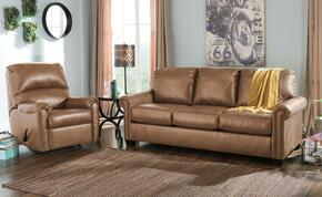 Lottie DuraBlend 380022539SET 2-Piece Living Room Set with Rocker Recliner and Queen Sofa Sleeper in Almond
