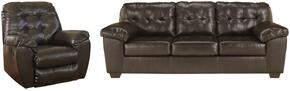 Alliston Collection 20101SR 2-Piece Living Room Set with Sofa and Recliner in Chocolate