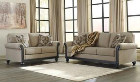 Alexandra Collection MI-1886SL-TAUP 2-Piece Living Room Set with Sofa and Loveseat in Taupe Color