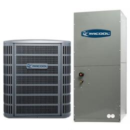 MACH13024 A/C Condenser and Air Handler 13SEER R410A with 24000 BTU Nominal Cooling, High-efficiency compressor and Aluminium micro channel heat exchanger.