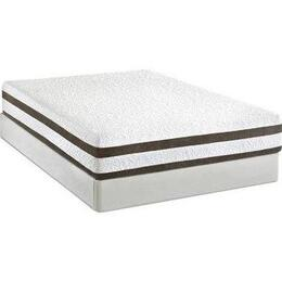 "NOVAKDKMATSET Nova 12"" King Size Memory Foam Mattress + White Split Foundation with Poly Knit Removable Cover, Premium Memory Foam and High Density Polyurethane Base Foam"