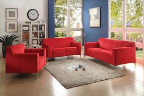 G330SET 3 PC Living Room Set with Sofa + Loveseat + Armchair in Red Color