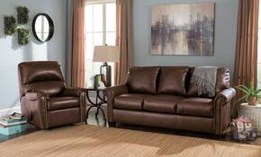 Lottie DuraBlend 380002536SET 2-Piece Living Room Set with Rocker Recliner and Full Sofa Sleeper in Chocolate