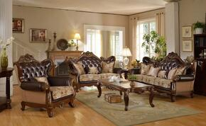 "5 Piece Living Room Set with 45"" Arm Chair, 73"" Loveseat, 59"" Coffee Table and 32"" Coffee Table in Rich Cherry Finish"