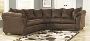75004SEC2PCKIT Darcy 2-Piece Living Room Set with Sectional Sofa and Chair in Cafe