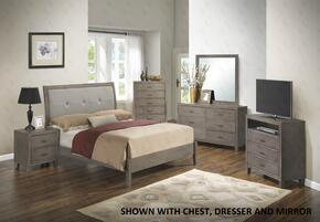 G1205AFBNTV 3 Piece Set including Full Bed, Nighstand and  Media Chest in Grey