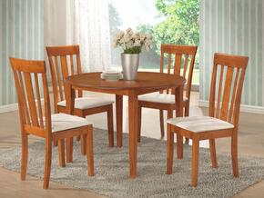 G0032T50C 5 PC Dining Room Set with Dining Table + 4 Side Chairs in Maple Finish