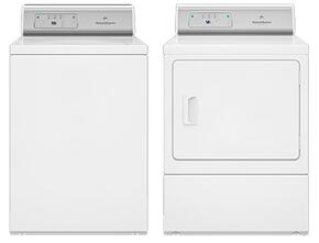 "White Top Load Laundry Pair with AWNE92SP 26"" Washer and ADGE9RGS 27"" Gas Dryer"