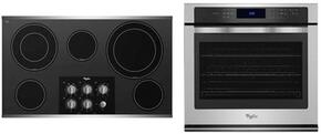"2-Piece Kitchen Package with G7CE3635XS 36"" Electric Cooktop and WOS97ES0ES 30"" Electric Single Wall Oven in Stainless Steel"