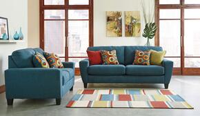 Sagen 9390238SET2PC 2-Piece Living Room Set with Sofa and Loveseat in Teal