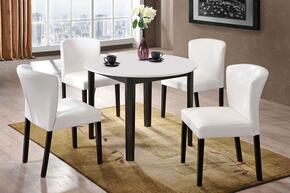 Taden Collection 71445SET 5 PC Dining Room Set witt Dining Table + 4 Side Chairs in White and Dark Cherry Finish