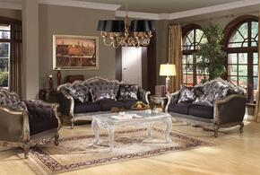 Chantelle 51540SLC 3 PC Living Room Set with Sofa + Loveseat + Chair in Antique Platinum Finish