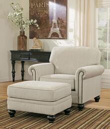 Elisabeth Collection MI-4861CO-LINE 2-Piece Living Room Set with Chair and Ottoman in Linen