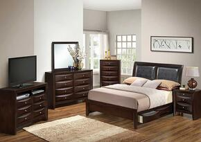 G1525DDQSB2NTV2 3 Piece Set including  Queen Size Bed, Nightstand and Media Chest in Cappuccino
