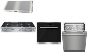 4-Piece Stainless Steel Kitchen Package with KMR1355LP 48
