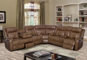Global Furniture U7303CBLANCHEWALNUTSECTIONAL