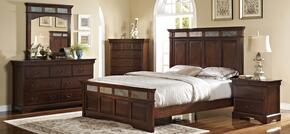 00455310320330DMNC 5 Piece Bedroom Set with Queen Madera Bed, Dresser, Mirror, Nightstand and Chest, in Chestnut