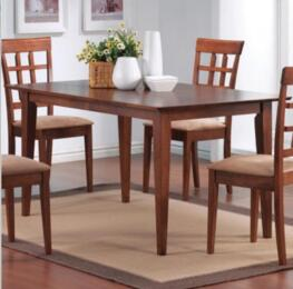 101771 Mix & Match Rectangle Leg Dining Table and 4 Pieces Dining Chair in Walnut Finish
