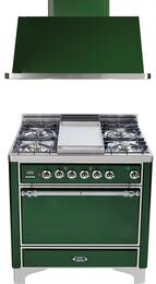 2-Piece Emerald Green Kitchen Package with UMC90FDMPVSX 36