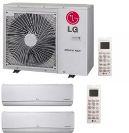 Dual Zone Mini Split Air Conditioner System with 36000 BTU Cooling Capacity, 2 Indoor Units, and Outdoor Unit