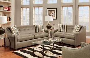 475440SSPL Brittany Sofa + Loveseat with 16 Gauge Border Wire, Kiln Dried Hardwood Frames, Throw Pillows, Sinuous Springs and Sewn Pillow Cushions in Stoked Pewter