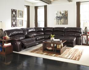 U98200587719576282 Living Room Set including Zero Wall Power Wide Recliner and 6-Piece Sectional Sofa in Dark Brown