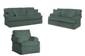 Emily 6262SLC/4022-44 3-Piece Living Room Set with Sofa, Loveseat and Chair in 4022-44 Blue
