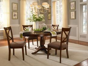 Desoto Collection DESSIOPT4SC 5-Piece Dining Room Set with Oval Pedestal Table and 5x Side Chairs in Burnished Sienna Finish