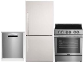 "3-Piece Kitchen Package with BRFB1812SSN 30"" Bottom Freezer Refrigerator, BDFP34550SS 30"" Slide-in Electric Range, and a free DW25502SS 24"" Built In Full Console Dishwasher in Stainless Steel"