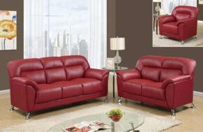 Global Furniture U9102REDSOFALC