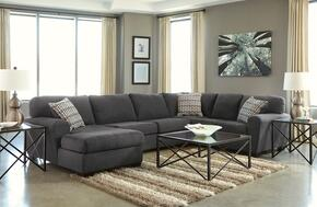 Sorenton 28600LCHSSCT2ET2LRWA 8-Piece Living Room Set with Left Chaise Sectional Sofa, Cocktail Table, 2 End Tables, 2 Lamps, Rug and Wall Art in Slate