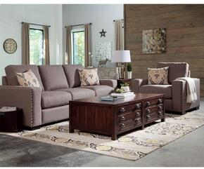 "Rosanna Collection 508041SET 91"" Living Room Set with Sofa + Arm Chair + Coffee Table + End Table in Dark Grey and Vintage Cocoa Color"