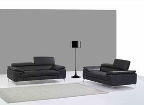 A973 Collection 17906111SL 2-Piece Living Room Set with Stationary Sofa, and Loveseat in Black