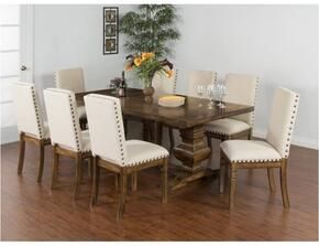 Cornerstone Collection 1396BMDT8C 9-Piece Dining Room Set with Extension Dining Table and 8 Chairs in Burnish Mocha Finish