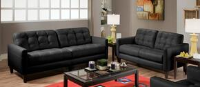 730285002142594SL Stafford Sofa with Loveseat, Bonded Leather, Solid Hardwoods and Sinuous Springs in Milano Black