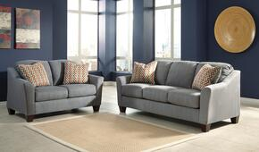 Hannin Collection 95802SL 2-Piece Living Room Set with Sofa and Loveseat in Lagoon