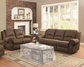 650151SL Sir Rawlinson Reclining Sofa + Loveseat with Rolled Panel Arm, Pad-Over-Chaise with Topstitch Detailing and Split Bustle Back Cushions in Brown