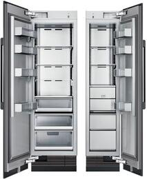 """42"""" Panel Ready Side-by-Side Column Refrigerator Set with DRZ18980RAP 18"""" Right Hinge Freezer, and DRR24980LAP 24"""" Left Hinge Refrigerator"""