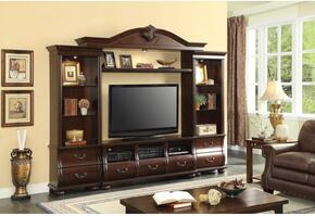 Faysnow 91293SET 2 PC Entertainment Center Set with TV Stand + Entertainment Center in Dark Cherry Finish