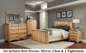 ADANT5070Q6P Adamstown 6 Piece Bedroom Set with Queen Sized Panel Bed, Chest, Dresser, Mirrror and Two Nightstands