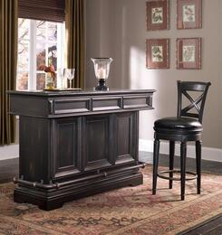 9932PC Brookfield 2 PC Bar Set with Bar and Barstool in Dark Wood Finish